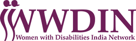 WWDIN Women with Disabilities India Network logo, to the homepage