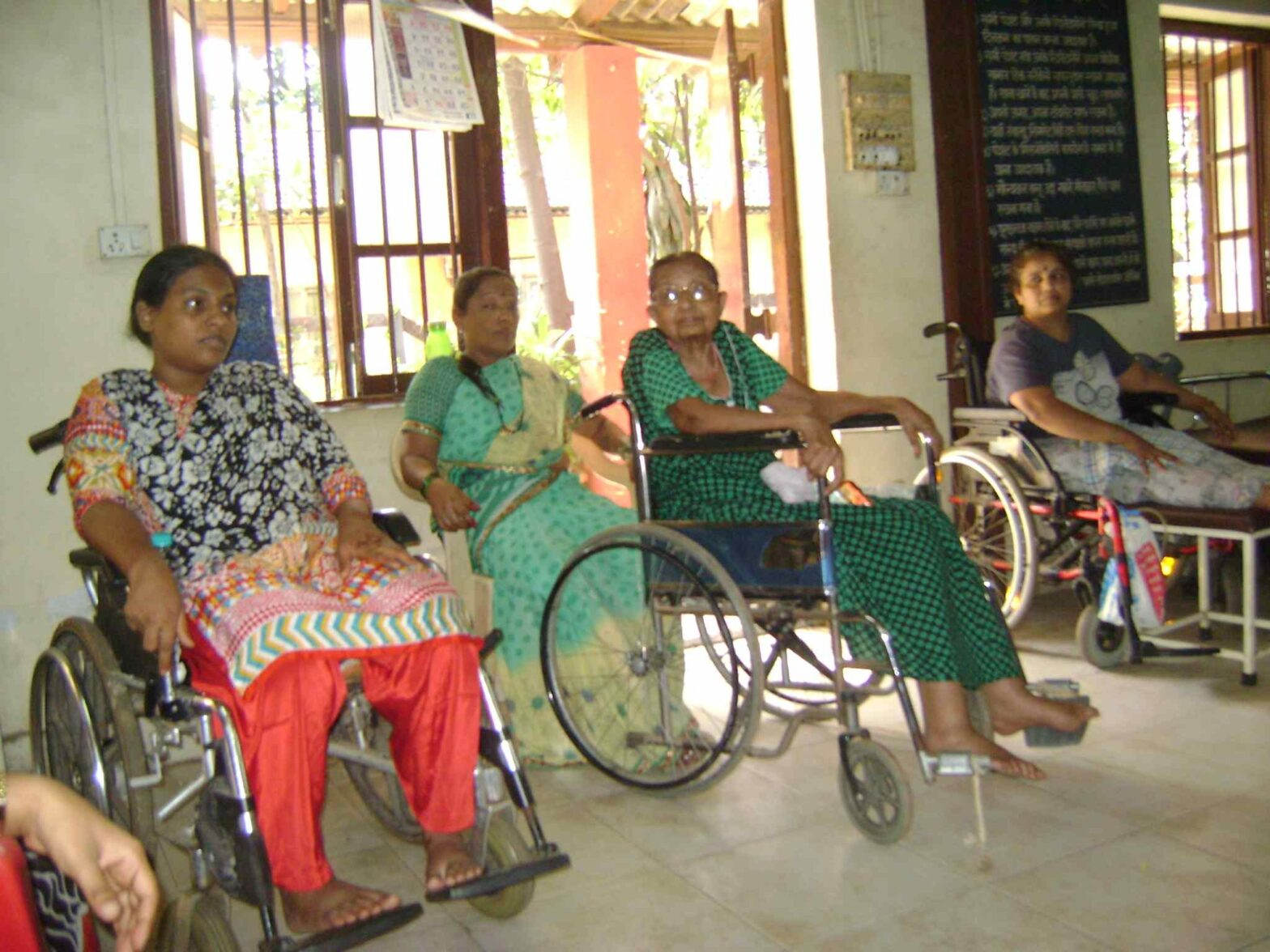women with disabilities group photo