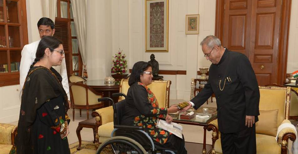 Anjalee Agarwal with former President of India